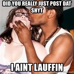 Scared White Girl - Did you REALLY just post dat shyt i aint lauffin