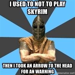 Unfortunate Guard - I used to not to play skyrim Then i took an arrow to the head for an warning