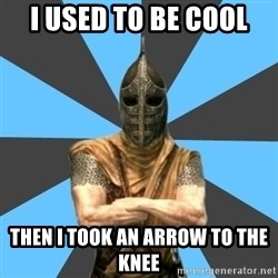 Unfortunate Guard - I USED TO BE COOL then i took an arrow to the knee