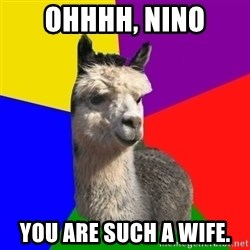 Arashian Alpaca - Ohhhh, nino you are such a wife.