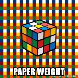 Typical_cuber -  paper weight