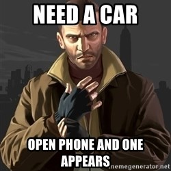 Gta 4 - need a car open phone and one appears