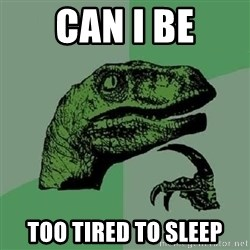 Philosoraptor - can i be too tired to sleep