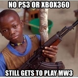 african kid - No ps3 or xbox360 still gets to play mw3