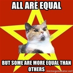 Lenin Cat Red - all are equal but some are more equal than others