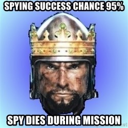 Medieval 2: Total War - spying success chance 95% spy dies during mission