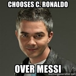 Gaylord - chooses c. ronaldo over messi