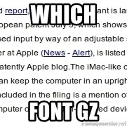 DONT KNOW WITCH FONT MEMES USE - which  font gz