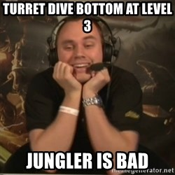 Phreak - Turret dive bottom at level 3 Jungler is bad