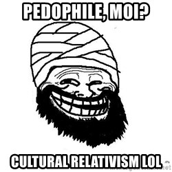 Trollface Mohammad - Pedophile, moi? cultural relativism lol