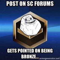 Forever Bronze - Post on SC forums gets pointed on being bronze...