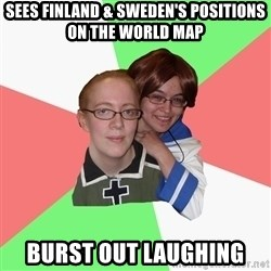 Hetalia Fans - Sees Finland & Sweden's positions on the world map burst out laughing