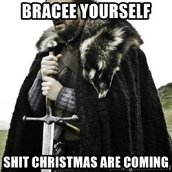 Ned Game Of Thrones - bracee yourself  shit christmas are coming