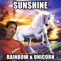 Chris' Unicorn - sUNSHINE rAINBOW & uNICORN