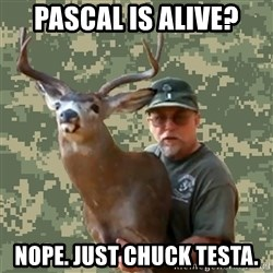 Chuck Testa Nope - Pascal is alive? nope. just chuck testa.