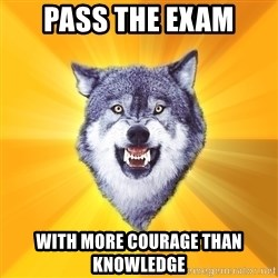 Courage Wolf - pass the exam with more courage than knowledge