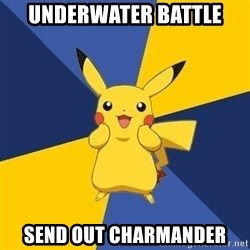 Pokemon Logic  - UNDERWATER BATTLE SEND OUT CHARMANDER