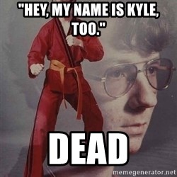 "PTSD Karate Kyle - ""Hey, my name is kyle, too."" dead"