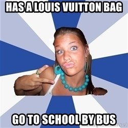 Vkontakte Girl - HAs a louis vuitton bag go to school by bus