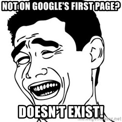 Yao Ming - Not on google's first page? doesn't exist!