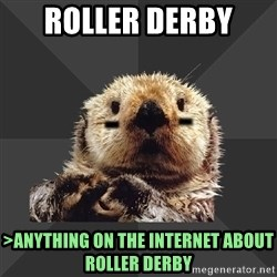 Roller Derby Otter - Roller Derby  >anything on the internet about roller derby