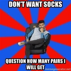 Pique the Philosopher - Don't want socks question how many pairs i will get