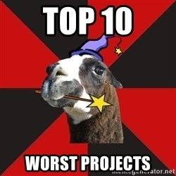 Epic Level Llama - top 10 worst projects