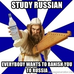 FinnishProblems - study russian everybody wants to banish you to russia