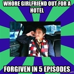 chuck bass - whore girlfriend out for a hotel forgiven in 5 episodes