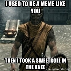 skyrim whiterun guard - I used to be a meme like you then I took a sweetroll in the knee