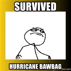 f yeah - Survived  HurricANE BAWBAG