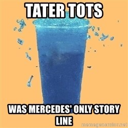 Gleek - TATER TOTS WAS MERCEDES' ONLY STORY LINE