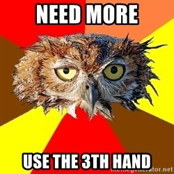 Musician Owl - NEED more use the 3th hand