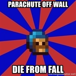 Kag knight - parachute off wall die from fall