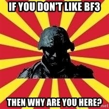 Battlefield Soldier - If you don't like BF3 Then why are you here?