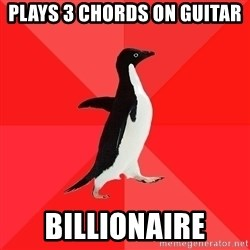 Socially Awesome Penguin - plays 3 chords on guitar billionaire