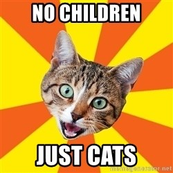 Bad Advice Cat - no children just cats