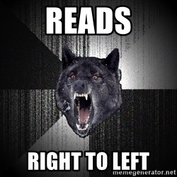 Insanity Wolf - Reads Right to left