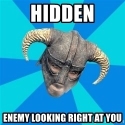 skyrim stan - HIDDEN ENEMY LOOKING RIGHT AT YOU