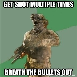 philosoraptor call of duty - get shot multiple times breath the bullets out