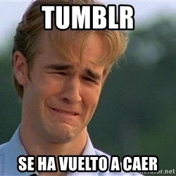 Crying Man - TUMBLR se ha vuelto a caer