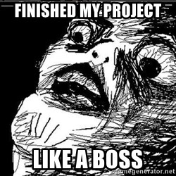 Omg Rage Face - finished my project  like a boss