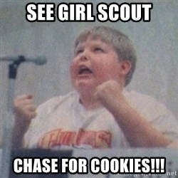 The Fotographing Fat Kid  - See girl scout chase for cookies!!!