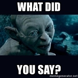 gollum - What did you say?