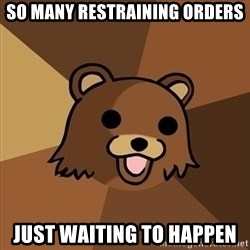 Pedobear - so many restraining orders just waiting to happen