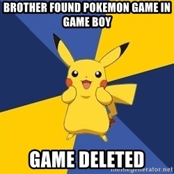 Pokemon Logic  - brother found pokemon game in game boy game deleted