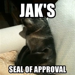 Baby Seal On Couch - jak's seal of approval
