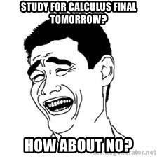 Dumb Bitch Meme - Study for calculus final tomorrow? how about no?
