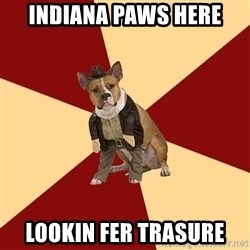 Archaeology Major Dog - Indiana paws here Lookin fer trasure