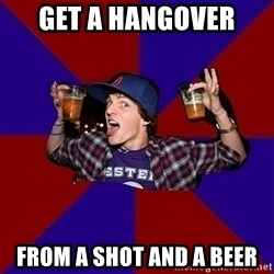 Sunny Student - Get a hangover from a shot and a beer